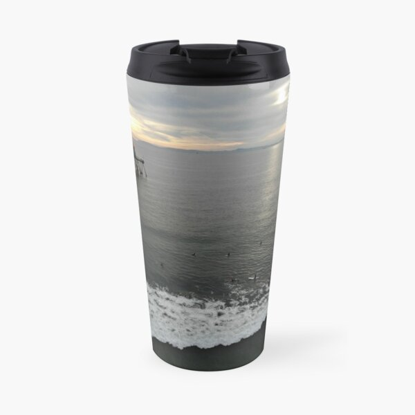 Surfers at Sunset Travel Mug