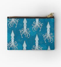 Deep under the Sea Blue Cephalopods Octopus  Studio Pouch