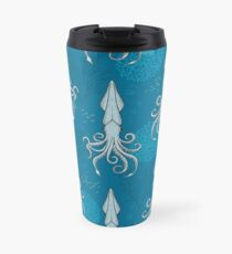 Deep under the Sea Blue Cephalopods Octopus  Travel Mug