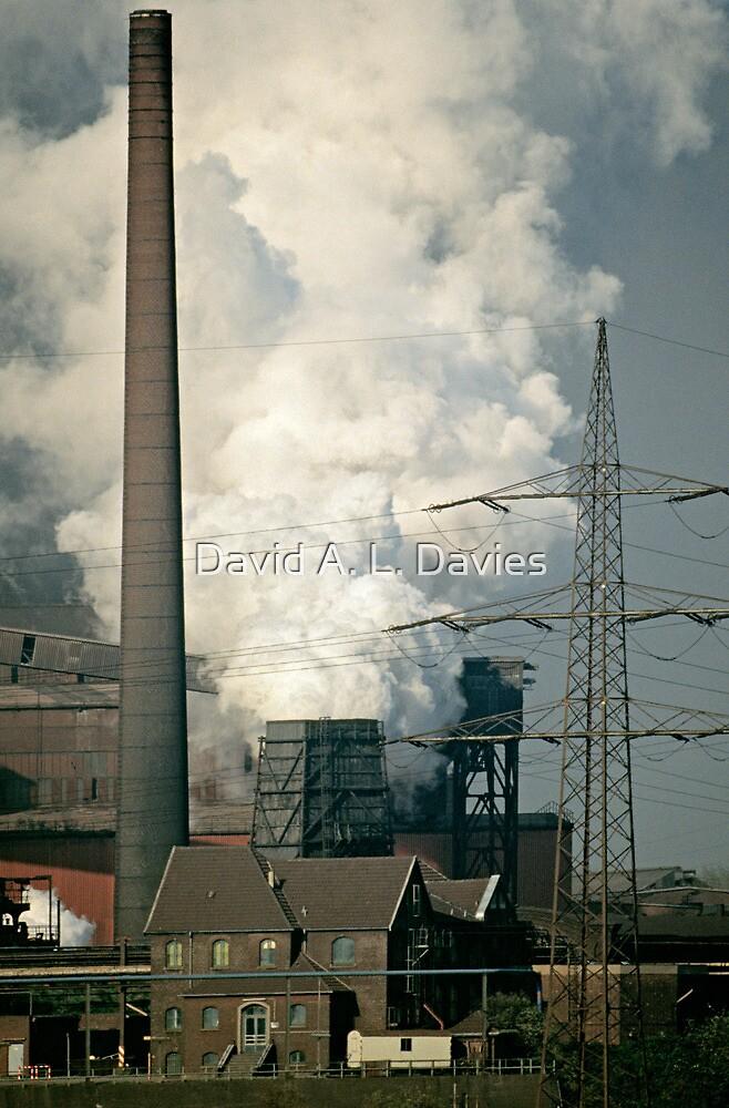 Rheinhausen steel works in early 1980s, Germany. by David A. L. Davies