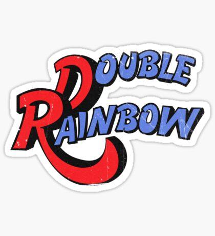 Double Rainbow-Dirty Logo Sticker