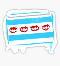 Chicago Flag: Baseball-Full Color Sticker