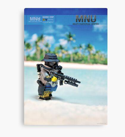 MNU diving suit Canvas Print