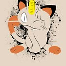 Meowth Splatter by adhpv