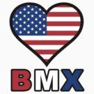 USA Heart BMX by Garrett  Holm