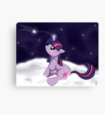 Snowy Constellations - Twilight Sparkle Canvas Print