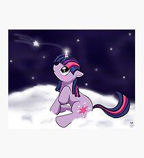Snowy Constellations - Twilight Sparkle Photographic Print