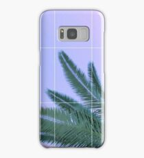 Palm Trees + Ombre Sky + Grid Aesthetic Samsung Galaxy Case/Skin