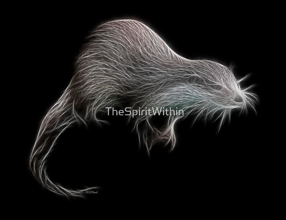 Medicine Wheel Totem Animals by Liane Pinel- Otter by Liane Pinel