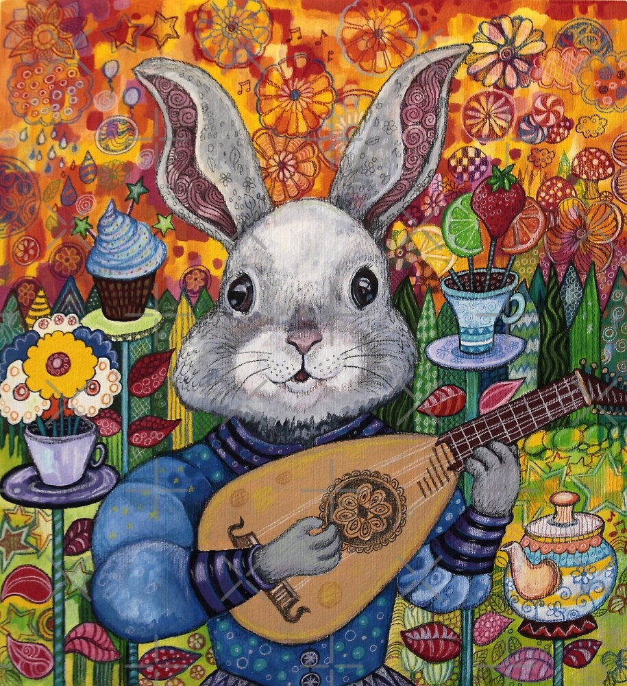 Minstrel Hare by Lynda Bell