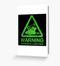 The Danger of the Ooze Greeting Card