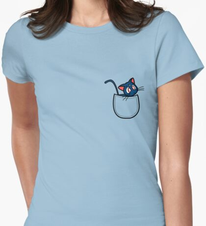 Pocket luna. Sailor moon Womens Fitted T-Shirt