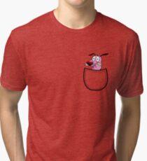 Pocket Courage Dog. Tri-blend T-Shirt