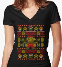 Super Ugly Sweater Women's Fitted V-Neck T-Shirt