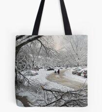 Snowstorm - Burke, Virginia Tote Bag