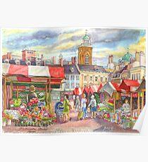 Market place, Northampton, UK Poster