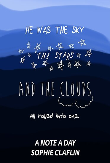 The Sky, the Stars, and the Clouds by sophieclaflin