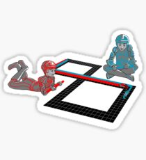 Tron Slot Light Cycles Sticker
