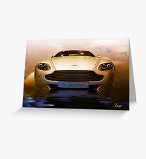 Aston Martin V8 Vantage Greeting Card
