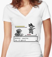 Crossover Pokemon - Dragonball Coloured balls Women's Fitted V-Neck T-Shirt
