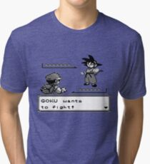 Crossover Pokemon - Dragonball Tri-blend T-Shirt