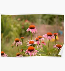 Leaping Floral Poster