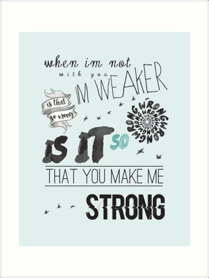 Strong one direction lyrics collage art prints by auroraboutique strong one direction lyrics collage by auroraboutique altavistaventures Choice Image