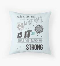 Strong - One Direction Lyrics Collage Throw Pillow