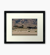 Pair of A-1 Skyraiders take off. Framed Print