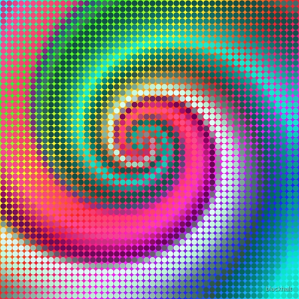 Fibonacci | Abstract random colors #19 by blackhalt