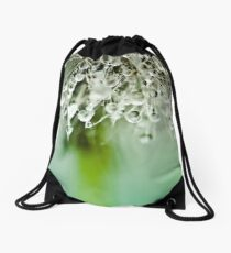 Dewdrop on Dandelion - 3 Drawstring Bag