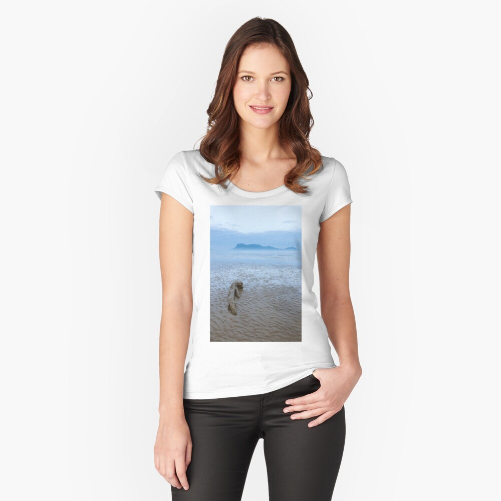 Dawn at beach in Bako national park Borneo Malaysia Fitted Scoop T-Shirt