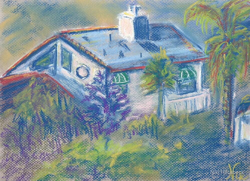 California Cottage (pastel) by Niki Hilsabeck