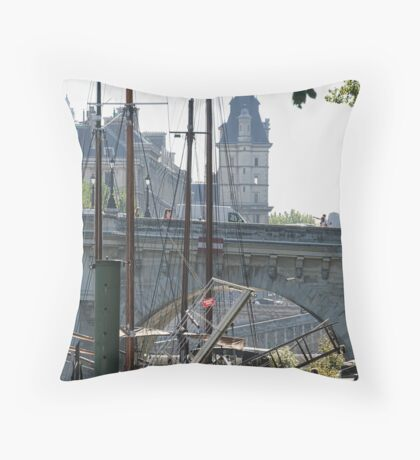 Living on the Seine Throw Pillow