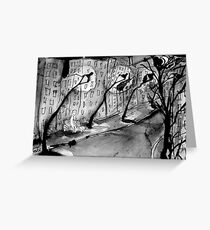 the street of no dreams Greeting Card