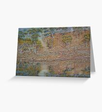 Coblinine river reflections - Dumbleyung Greeting Card