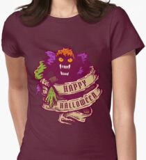 Monster and old ribbon for Halloween Womens Fitted T-Shirt