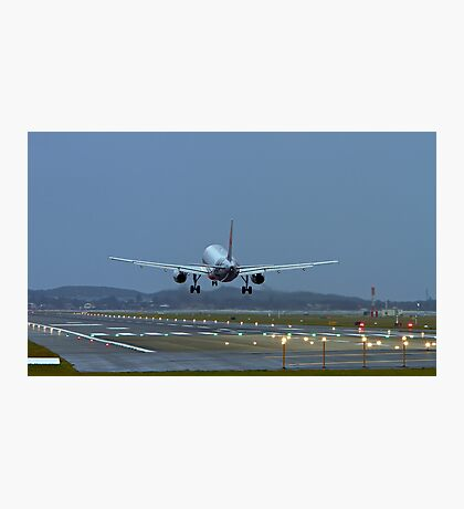 A320 Landing Photographic Print
