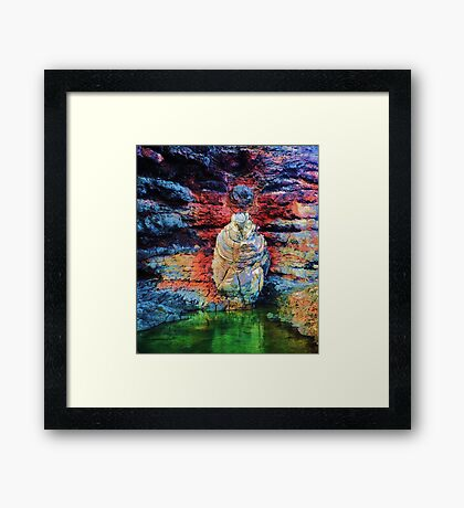 Layered Circles Wither in Time Framed Print