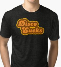 Disco Sucks - Retro 70s - Logo Tri-blend T-Shirt