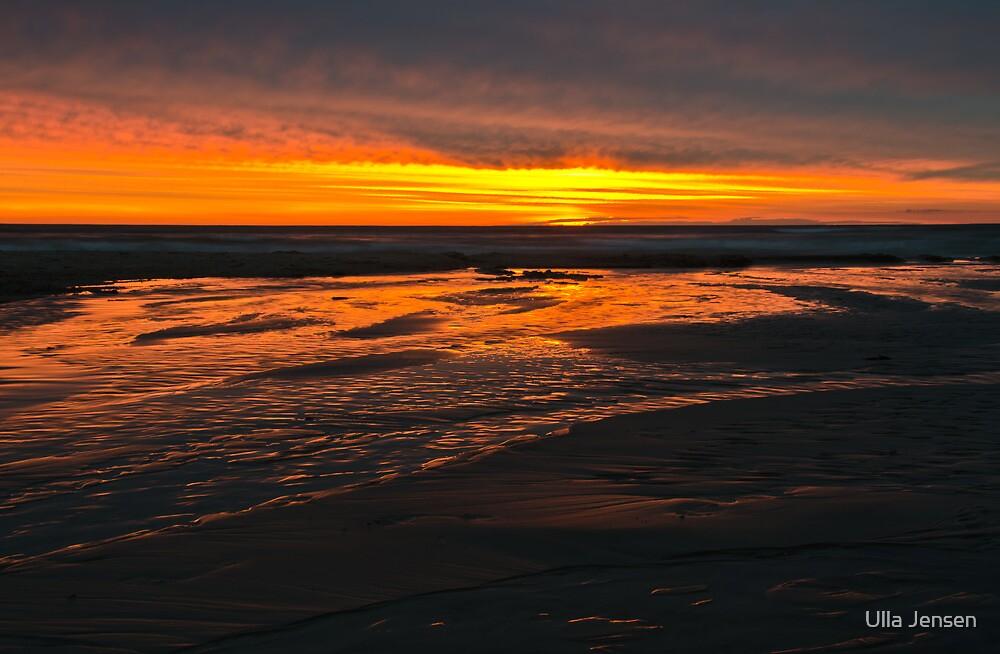 Wet sand on fire  by Ulla Jensen