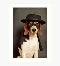Even Zorro needs a best friend Art Print
