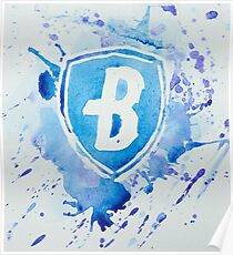 Blue Coats DCI Watercolor Logo Poster