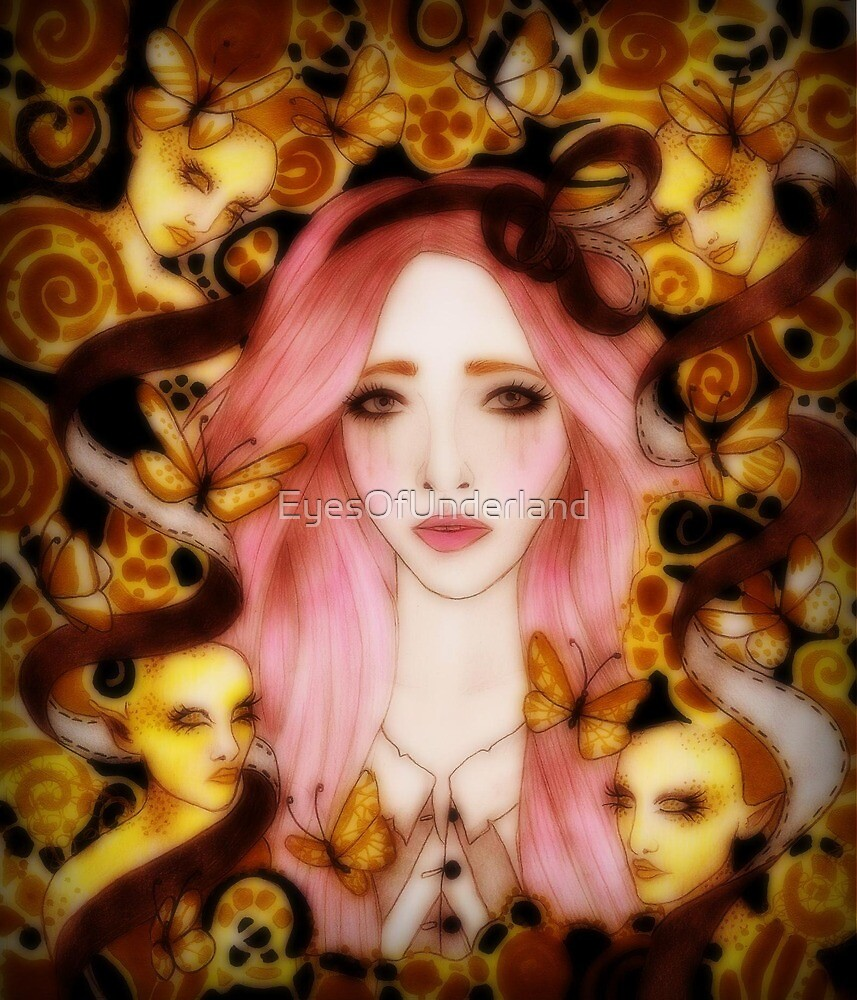 Little Lost Lucy With Golden Faeries by EyesOfUnderland