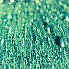 Green water drops -2 by BobbiFox