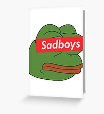 rare pepe sadboy Greeting Card