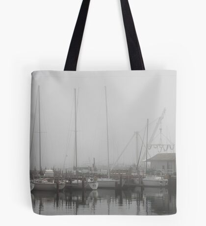 Misty Harbor Tote Bag