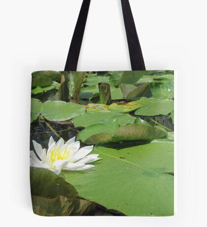 Green Lillies Tote Bag