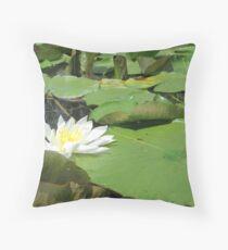 Green Lillies Throw Pillow