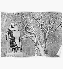 London Winston Churchill Statue Poster